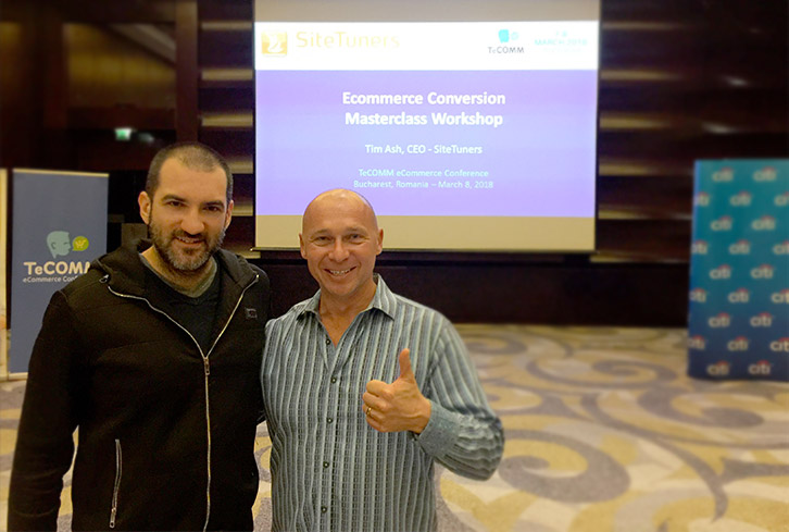 Stefan Chorbanov with a Masters degree for Ecommerce Conversion of Top Marketing Expert Tim Ash