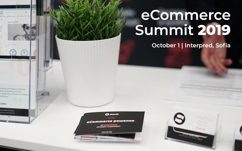 Stenik with a presentation  during eCommerce Summit on 01.10.2019