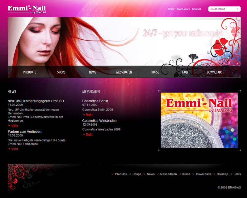 Уеб сайт на Emmi Nail, Emmi Nail - Web Sites, Stenik