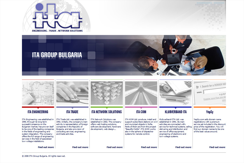 Уеб сайт на ITA Group, ITA Group - Web Sites, Stenik
