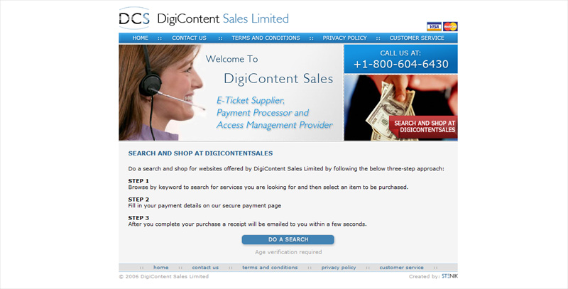 Уеб сайт на DigiContent Sales Limited, Interconsult Int. Ltd. - Уеб сайтове, Stenik