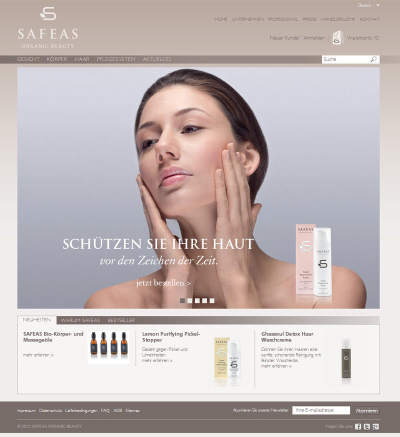 Ecommerce website for Safeas, Safeas - Online Shops, Stenik