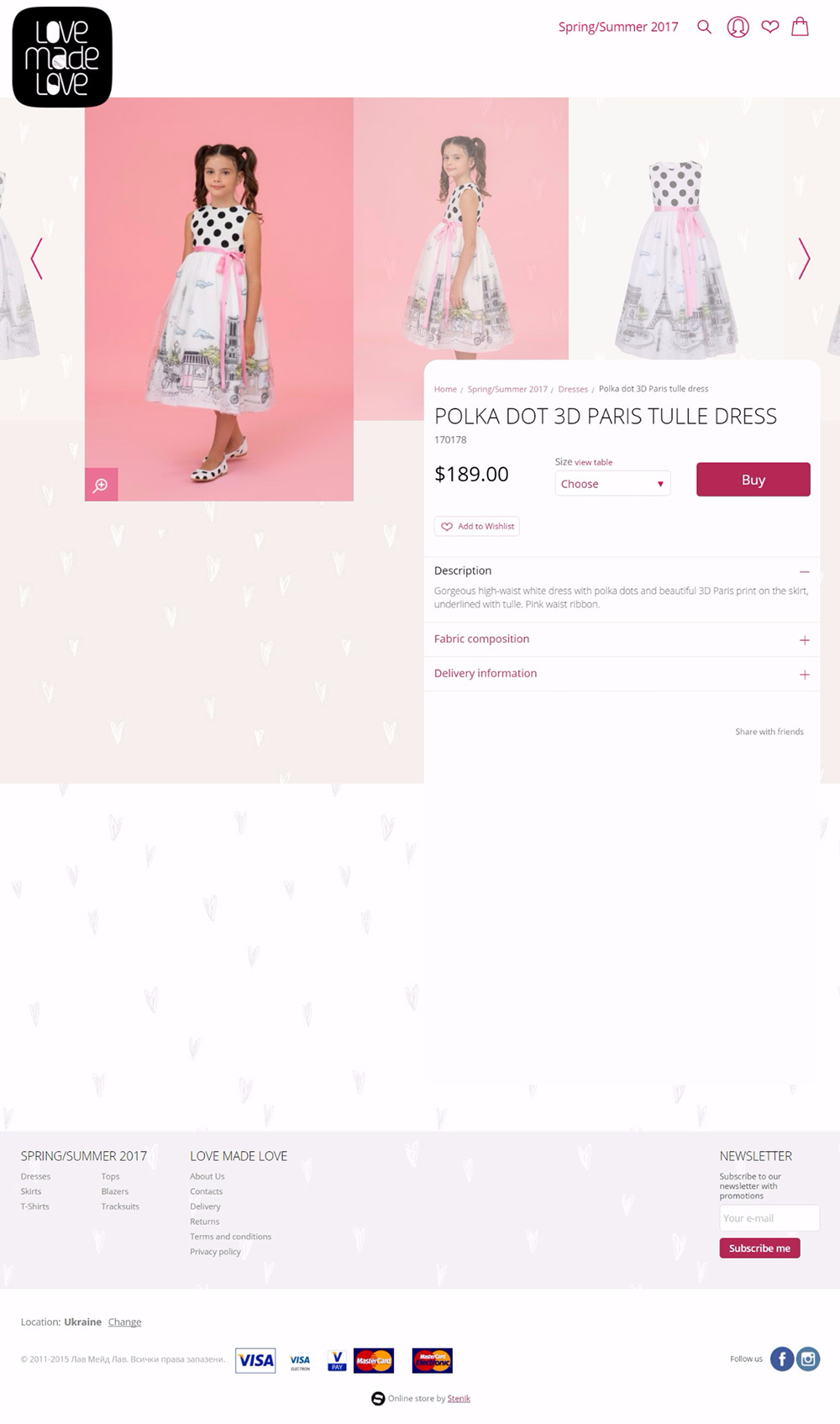 Online store for Love made love, Love Made love - Online Shops, Stenik, Magento