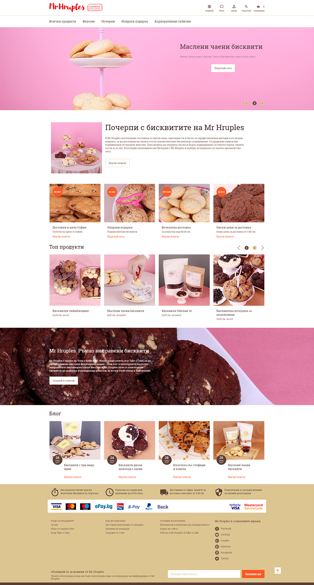 Online store for Mr. Hruples, Take a Cake - Online Shops, Stenik, Magento