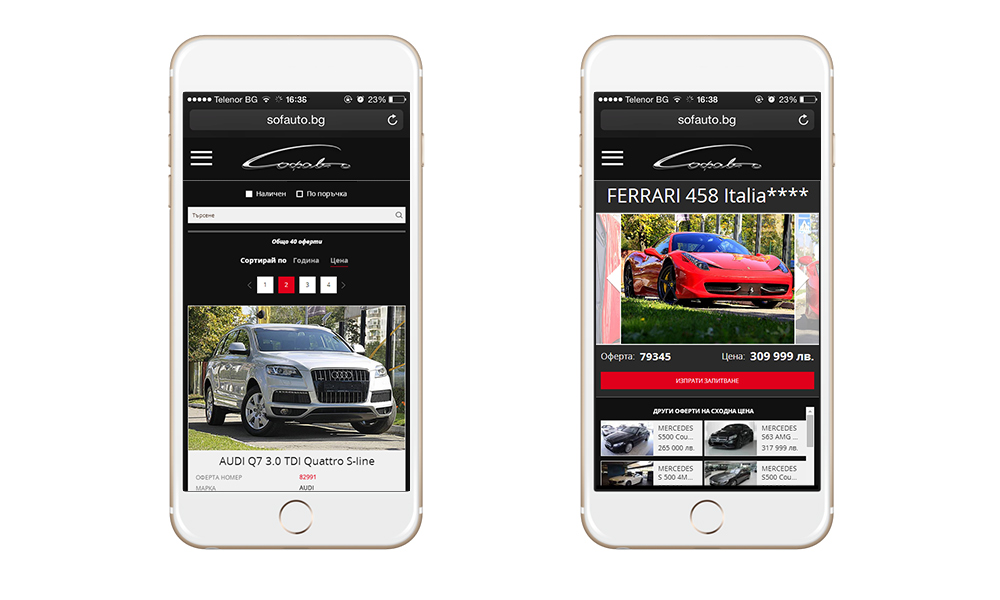 Desktop and responsive website for car dealer Sofauto, Sofauto - Web Sites, Stenik, StenikCMS