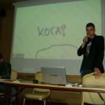 Димитър Димитров представя втората част от презентацията пред стажантите