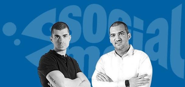 Димитър Димитров и Стефан Чорбанов от Stenik на презентация на SocialMe WorkShop
